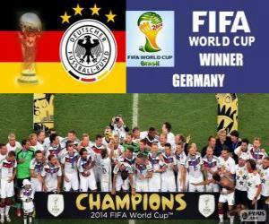 Rompicapo di Germania, campione del mondo. Mondiali di calcio Brasile 2014