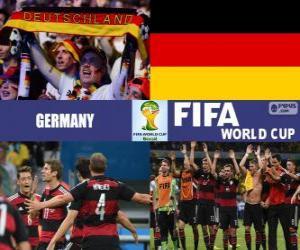 Rompicapo di Germania celebra la sua classificazione, Brasile 2014