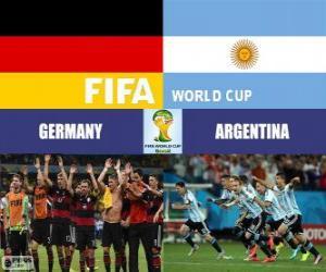 Rompicapo di Germania vs Argentina. Finale della Coppa del Mondo FIFA Brasile 2014