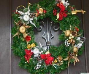 Rompicapo di Ghirlanda di Natale decorato