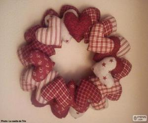 Rompicapo di Ghirlanda di Natale di cuori
