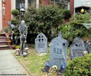 Rompicapo di Giardino decorata per Halloween