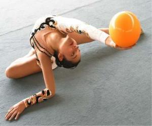 Rompicapo di Ginnastica ritmica - Esercizio com palla
