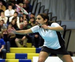 Rompicapo di Giocatore di badminton