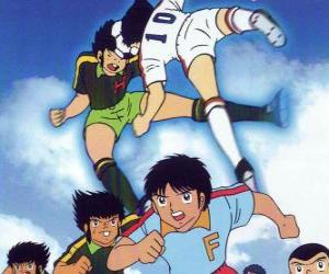Rompicapo di Giocatori di calcio in una partita da Captain Tsubasa