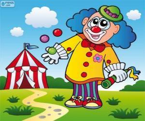 Rompicapo di Giocoliere clown