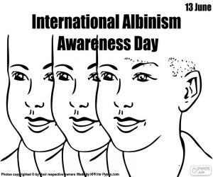 Rompicapo di Giornata internazionale di sensibilizzazione su albinismo