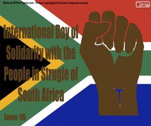 Rompicapo di Giornata internazionale di solidarietà con il popolo in lotta per il Sudafrica