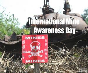 Rompicapo di Giornata internazionali del giorno sul pericolo delle mine
