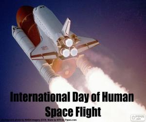 Rompicapo di Giornata mondiale del volo umano nello spazio