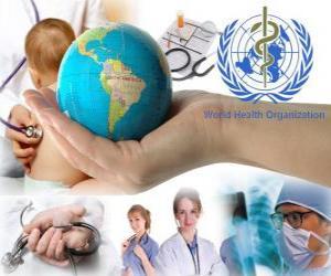 Rompicapo di Giornata mondiale della salute, che commemora la fondazione della OMS su 7 aprile 1948