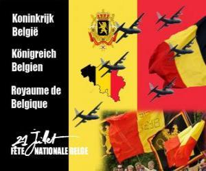 Rompicapo di Giornata Nazionale belga si celebra il 21 luglio. Nel 1831 il primo re belga giurò fedeltà alla Costituzione