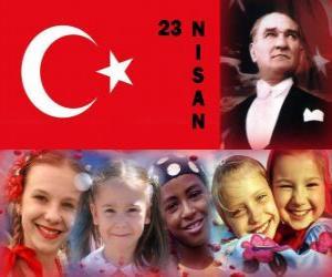 Rompicapo di Giornata Nazionale Sovranità e Il Giorno di bambini è tenere in Turchia ogni 23 aprile