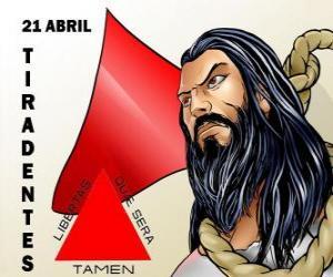 Rompicapo di Giorno de Tiradentes, martire dell'indipendenza del Brasile. Commemora la sua morte, avvenuta il 21 aprile 1792