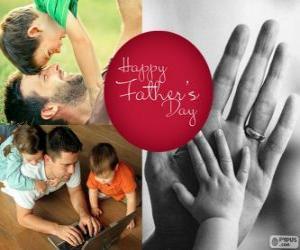 Rompicapo di Giorno del padre felice