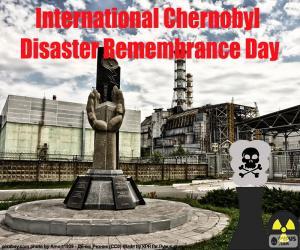 Rompicapo di Giorno di ricordo del disastro Chernobyl internazionale
