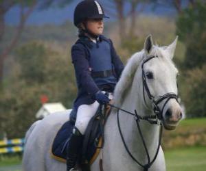 Rompicapo di Giovane cavaliere a cavallo, la ragazza a cavallo