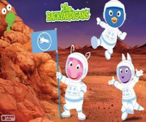 Rompicapo di Gli astronauti Backyardigans sono arrivati a Marte