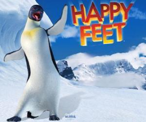 Rompicapo di Gloria è un pinguino imperatore femminile, Mumble è innamorato di Gloria nel film Happy Feet