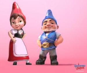 Rompicapo di Gnomeo e Giulietta, i protagonisti di un film basato su Romeo e Giulietta di Shakespeare