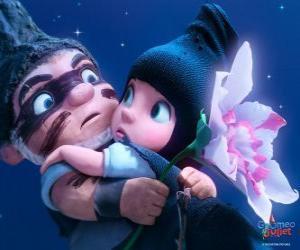 Rompicapo di Gnomeo e Giulietta, in una scena del film