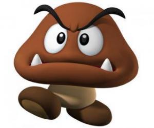 Rompicapo di Goomba, nemici di Mario, una specie di fungo con i piedi