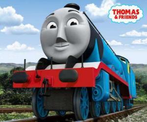 Rompicapo di Gordon, la locomotiva azzurra con il numero 4, il treno espresso