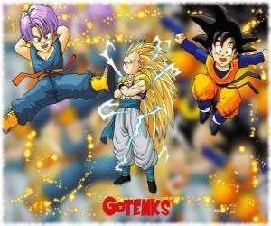 Rompicapo di Gotenks, uno dei più potenti personaggi creati dalla fusione tra Son Goten e Trunks