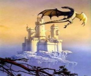 Rompicapo di Grande drago alato di volo