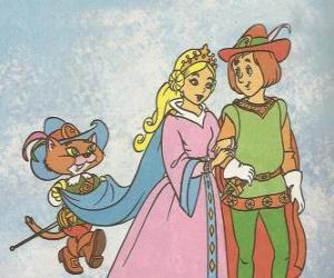 Rompicapo di Grazie alla genialità dil gatto con gli stivali il figlio più giovane dil mugnaio divenne il marchese di Carabas e si sposa con la bella principessa