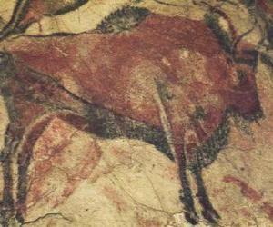 Rompicapo di Grotta di pittura che rappresentano una bufala sulla parete di una grotta