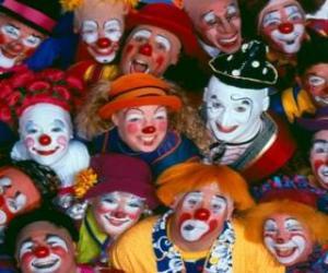 Rompicapo di Gruppo di clown
