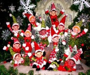 Rompicapo di Gruppo di elfi di Natale
