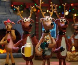 Rompicapo di Gruppo di renne di Natale celebrare il Natale