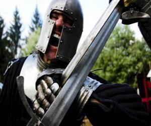 Rompicapo di Guerrieri combattendo una battaglia