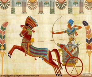 Rompicapo di Guerriero egiziano e carro