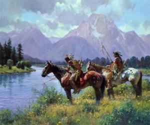 Rompicapo di Guerriero indiano a cavallo