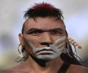 Rompicapo di Guerriero indiano con il volto dipinto