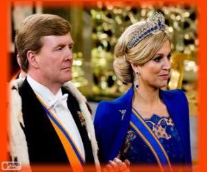 Rompicapo di Guglielmo Alessandro e Máxima nuovo re d'Olanda (2013)