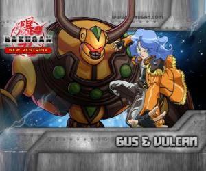 Rompicapo di Gus e la sua Vulcano Bakugan