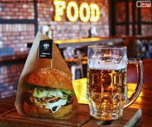 Rompicapo di Hamburger e birra