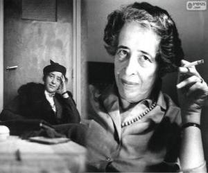 Rompicapo di Hannah Arendt, filosofa tedesco e nazionalizzato americano origine ebraiche