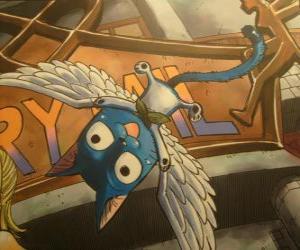 Rompicapo di Happy è un gatto magico che può avere le ali, compagno inseparabile di Natsu  nelle avventure di Fairy Tail