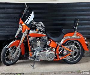 Rompicapo di Harley Davidson arancione