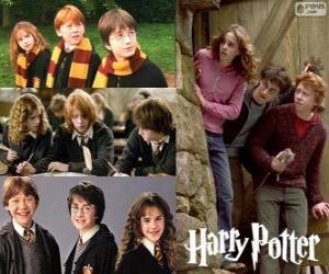 Rompicapo di Harry Potter ei suoi amici Ron e Hermione