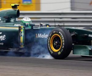 Rompicapo di Heikki Kovalainen - Lotus - Istanbul 2010
