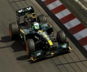 Rompicapo di Heikki Kovalainen - Lotus - Monte-Carlo 2010
