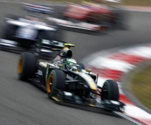 Rompicapo di Heikki Kovalainen - Lotus - Shanghai 2010