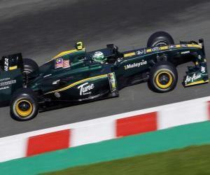 Rompicapo di Heikki Kovalainen - Lotus - Spa-Francorchamps 2010
