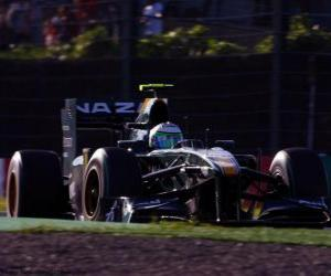 Rompicapo di Heikki Kovalainen - Lotus - Suzuka 2010